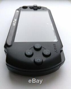 Black Sony PSP E1000 STREET good condition 64 gb memory card custom