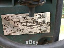 ESAB L-TEC PCM-1000i Plasma Cutter Cutting Torch System Good Condition and Cart