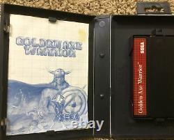 Golden Axe Warrior Sega Master System Complete Box Ntsc Very Good Condition