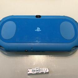 Good Condition PS Vita 2000 PCH-2000 Blue Sony PlayStation