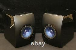 KEF LS50 Wireless Active Music System Gloss Black/Blue Good/Fair Condition
