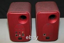 KEF LSX Wireless Active Music System Red Good Condition