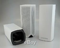 Linksys Velop Tri-Band Mesh WiFi System WHW0303 3 Pack White Good Shape