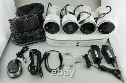 Lorex 4K 4 Camera 8 Channel Active Deterrence Security System 2TB DVR Good Shape