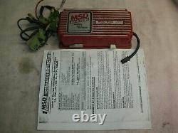 MSD 6AL Ignition System box tested good, 7200 RPM Chip very good condition
