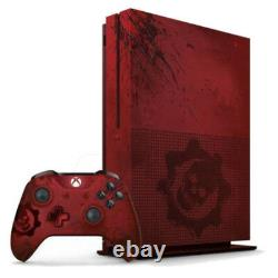 Microsoft Xbox One S Gears of War 4 2TB Crimson Red Console -Very Good Condition