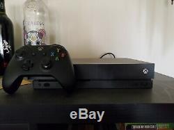 Microsoft Xbox One X 1tb 4k Ultra Hd Black Console Very Good Condition + Box