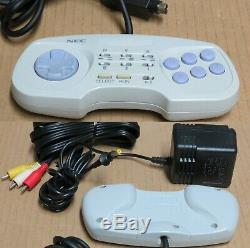 NEC PC Engine Duo-RX System Console Boxed Good Condition + Original Arcade Pad