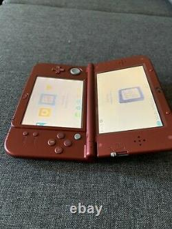 New nintendo 3ds xl red handheld game console very good condition screen protect