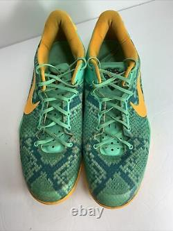 Nike Kobe 8 System Shoes Mens Size 15 2013 Good Condition Green RARE 555035-304