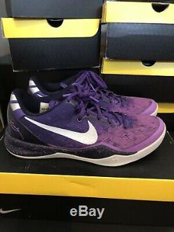 Nike Kobe 8 VIII System Purple Gradient Playoff Platinum Size 9 Good Condition