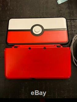 Nintendo 2DS XL PokeBall Pokemon Edition Red White (Very Good Condition) Tested