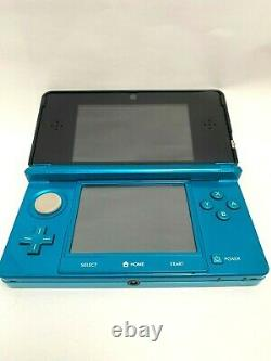 Nintendo 3DS Aqua Blue Used body console / in good condition / Japan Game