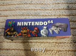 Nintendo 64 Console Complete in Box CIB Good Condition With Manual N64 Tested