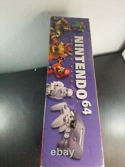 Nintendo 64 Console Complete in Box CIB Good Condition With Manuals N64 Tested