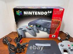 Nintendo 64 Console Complete in Box Good Condition With Manuals N64 Tested