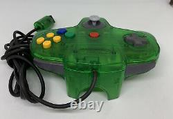 Nintendo 64 N64 Green Console Fully Working Good Condition PAL