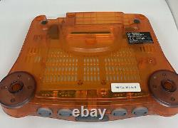 Nintendo 64 N64 Orange Console Fully Working Good Condition PAL