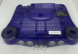Nintendo 64 N64 Purple Console Fully Working Good Condition PAL
