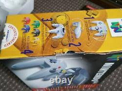 Nintendo 64 n64 console boxed pal good condition tested working