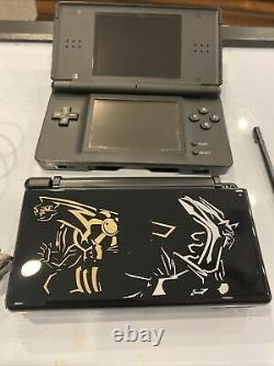 Nintendo DS Lite Black Console Good Condition with Charger & Pokemon Black Shell
