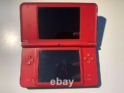 Nintendo DSi XL Mario 25th Anniversary Red Bundle Genuine Parts Good Condition