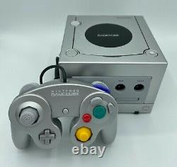 Nintendo GameCube DOL-001 Cords + Controller 100% Nintendo Good Condition