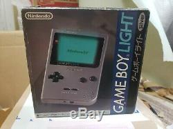 Nintendo Gameboy Light Silver Console System Japan BOXED GOOD CONDITION