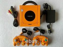 Nintendo Gamecube Orange console controllers charger DOL-001 very good condition
