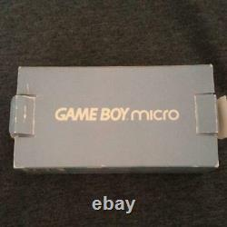 Nintendo Good Condition Game Boy Micro Body Blue Charger Box from jAPAN