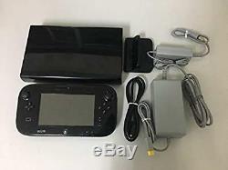 Nintendo Japan Game console Wii U Black Kuro Used Good Condition
