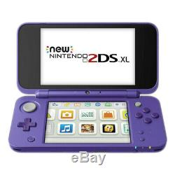 Nintendo New 2DS XL Purple and Silver Handheld System Very Good Condition