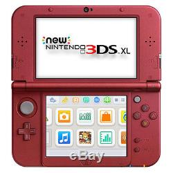 Nintendo New 3DS XL Red Handheld System Very Good Condition