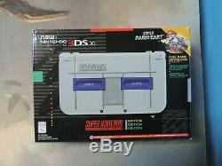 Nintendo New 3DS XL Super Nintendo Edition with Original Box Good Condition
