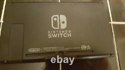 Nintendo Switch 32GB Gray Console W Gray Joy-Cons Used V1 Good Shape Oem Grip