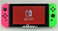 Nintendo Switch 32GB Gray Console With Green/Pink Joy-Cons Good Shape
