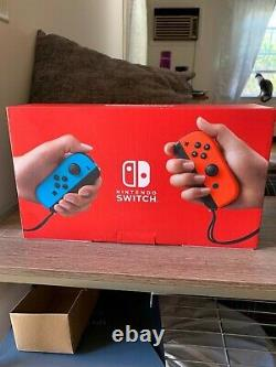 Nintendo Switch 32GB Neon Red/Neon Blue Console. Used once. Very good condition