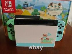 Nintendo Switch Animal Crossing New Horizons Edition Very Good Condition