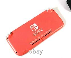 Nintendo Switch Lite Console Coral Pink Handheld System Good Condition Grade B