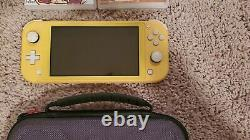 Nintendo Switch Lite Console Yellow (Good Condition& 2Games)