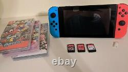 Nintendo Switch with CFW, 3 games, and a 128GB SD card (Good condition)