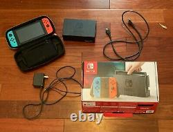 Nitendo Switch console used with case and screen protector. In good condition