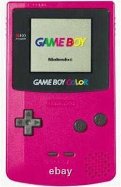 Original Nintendo Game Boy Color System Berry Pink