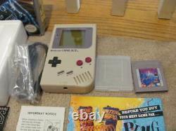 Original Nintendo Gameboy System COMPLETE IN BOX 1989 GOOD SHAPE