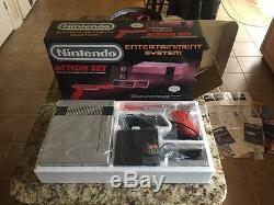 Original Nintendo NES Action Set System Console Good Condition CIB In Box