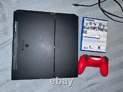 PS4 console with game and controller good condition factory reset