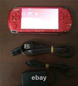 PSP-3000 console red good condition international PlayStation Portable system