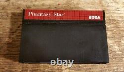 Phantasy Star Sega Master System Cartridge & Box Pal UK Good Condition