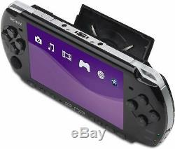 Piano Black PSP 3000 Core Pack System Handheld Game Player Good Condition
