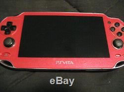 PlayStation PS Vita OLED 1000 Cosmic Red 3.60 FW Good Condition